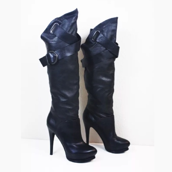 a8c73159c7d GUESS by MARCIANO PLATFORM TALL BOOTS